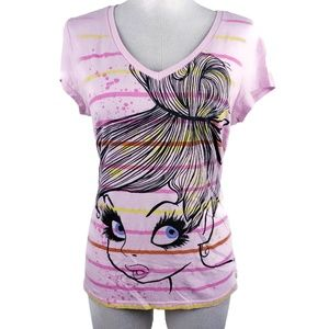 Disney Size 15/17 Juniors Pink S/S Fashion Tee